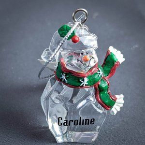 Caroline Christmas Ornament Personalized Snowman